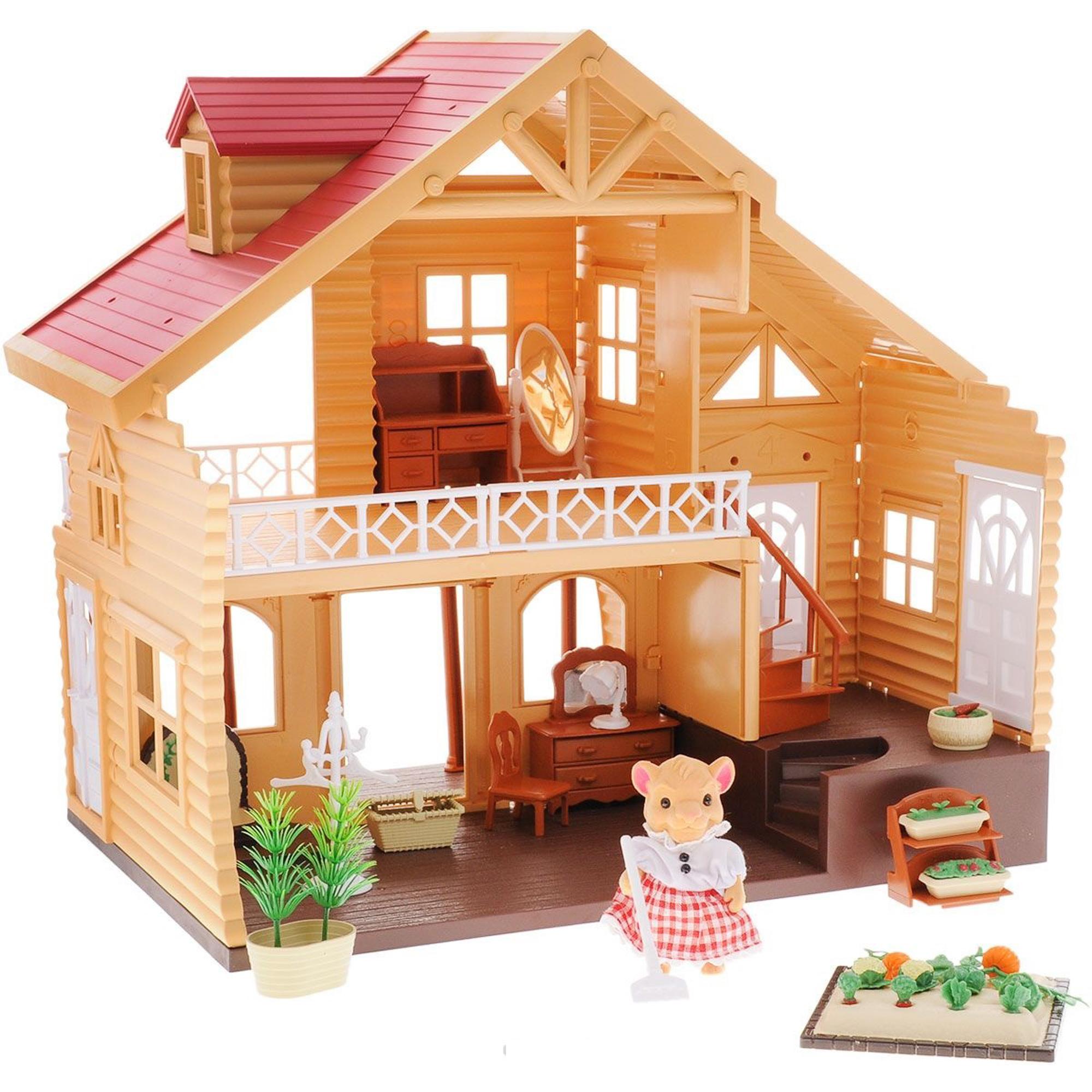 Купить Вилла загородная Happy Family, для зверят, с аксессуарами 012-03,