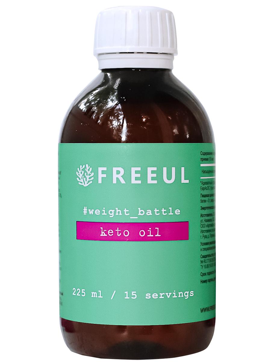 Купить Кето масло ФриульMCT кислоты из 100% кокосового масла 225 мл, FREEUL