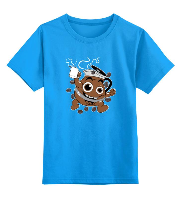 Детская футболка Printio Кофе coffee цв.голубой р.152 0000000785587