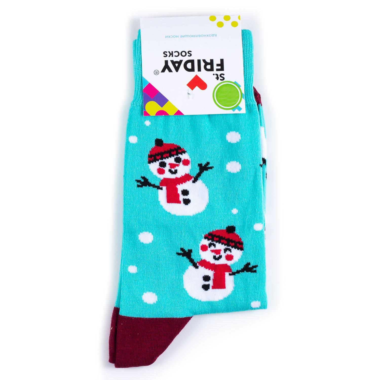 Носки унисекс St.Friday Socks STFR_Snegovperep разноцветные 38-41