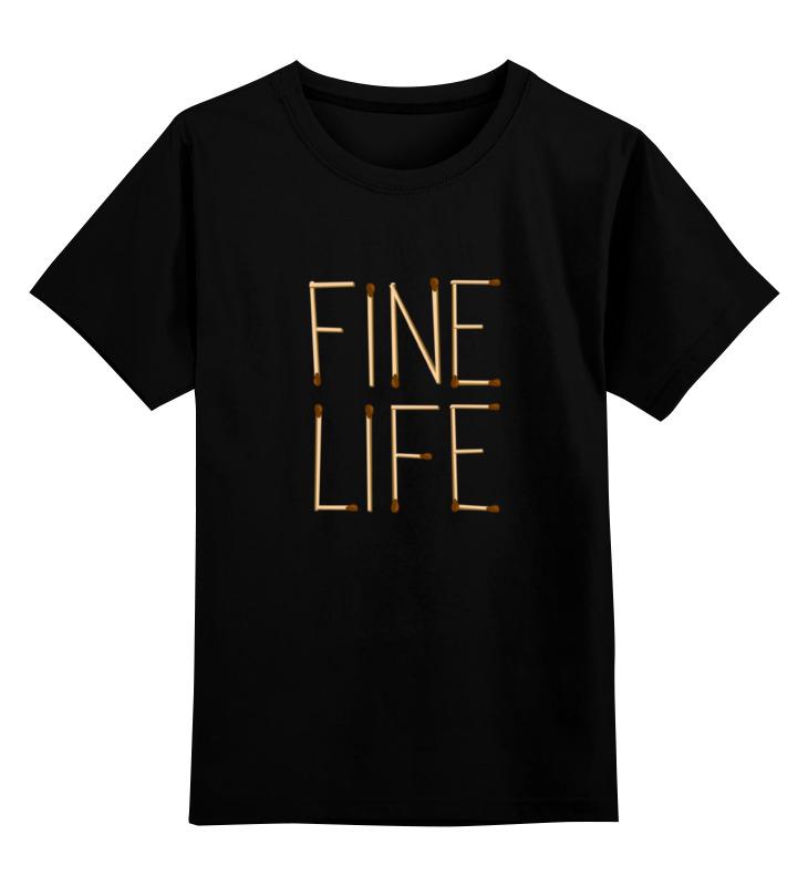 Детская футболка Printio Fine life цв.черный р.152 0000000784328 по цене 990