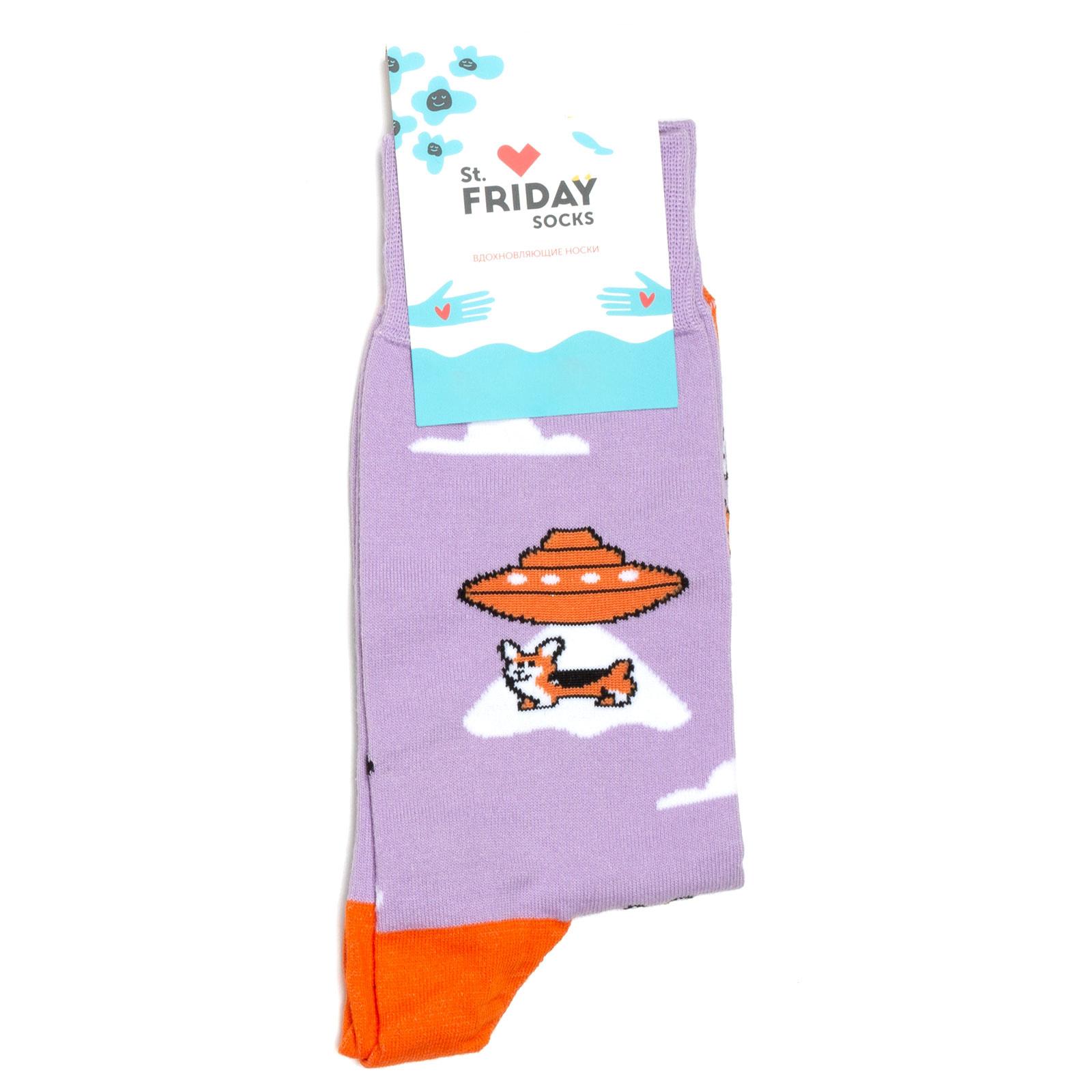 Носки унисекс St.Friday Socks STFR_Corgi_Prisheltsi разноцветные 42-46