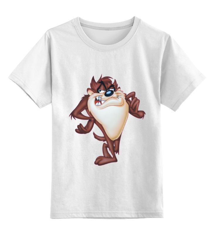 Детская футболка Printio Тасманский дьявол цв.белый р.164 0000000782636 по цене 790