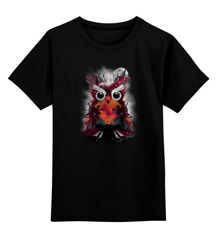 Детская футболка Printio Абстрактная сова цв.черный р.164 0000000780861 по цене 990