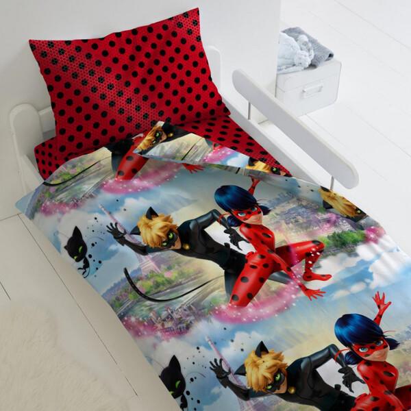 Купить Поплин, Комплект постельного белья Тейковский ХБК Леди Баг и Супер Кот 1, 5-спальный,