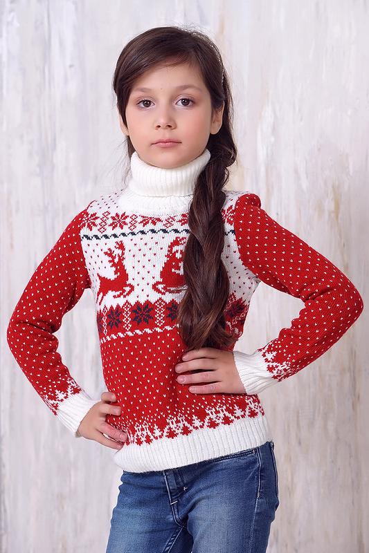 Джемпер для девочек 6138 ВЕСНУШКИ цв.белый р.92