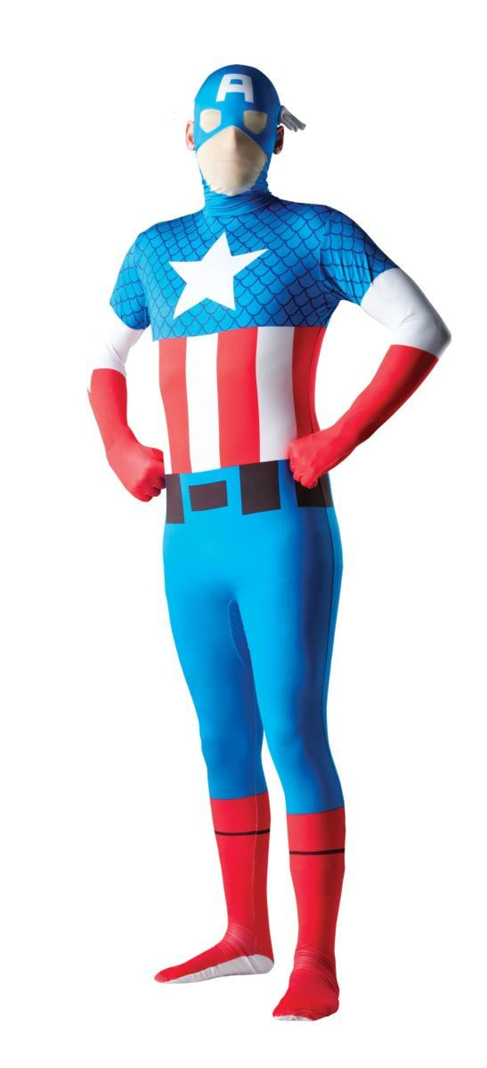 Купить R880826, Костюм Rubie's Капитан Америка Вторая Кожа Взрослый M (48-50),