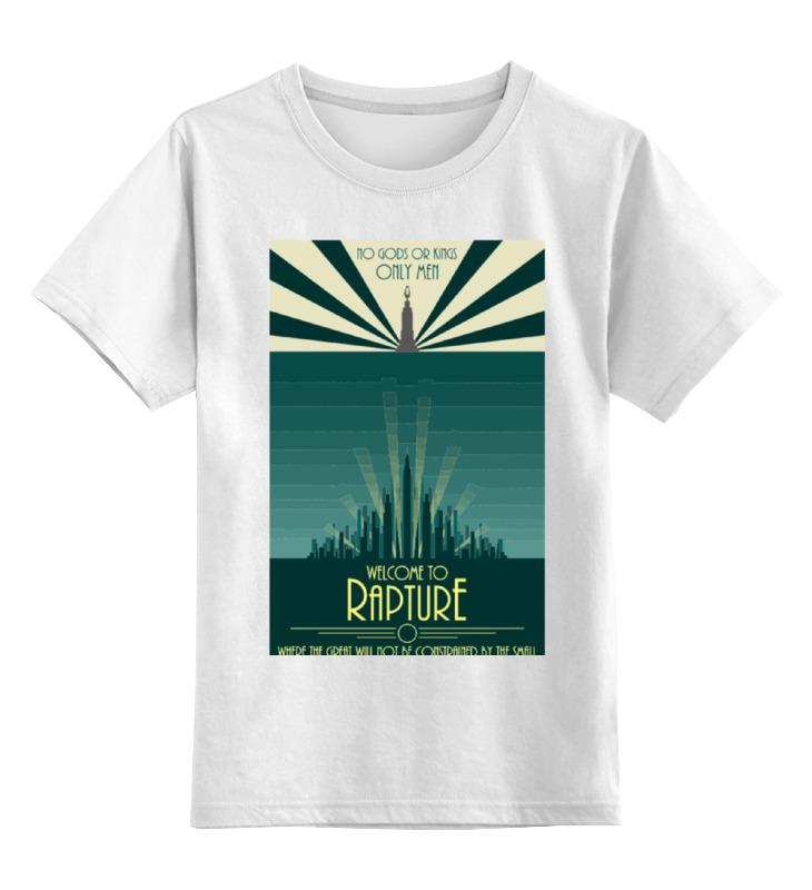 Купить 0000000773445, Детская футболка Printio Bioshock - only the great цв.белый р.164,