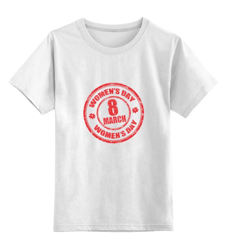 Детская футболка Printio 8 марта цв.белый р.164 0000000772184 по цене 746