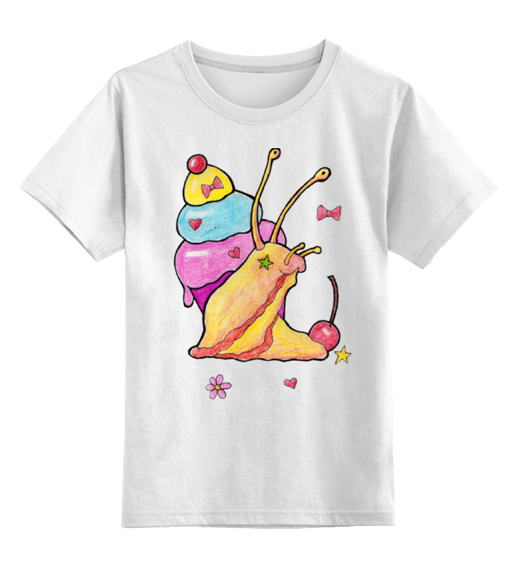 Детская футболка Printio Улитонька цв.белый р.164 0000000771067 по цене 790