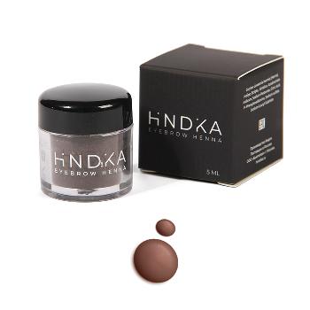 Купить ХНА для бровей и ресниц, HINDIKA, натуральная Soft brown мягкий коричневый, 7 гр