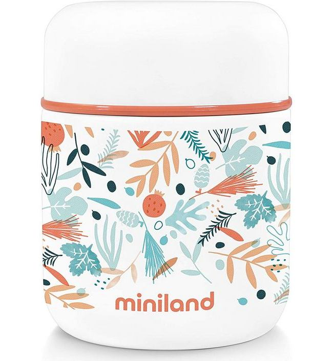 Термос Miniland Silky Thermos Mini Mediterranean 0,28 л белый