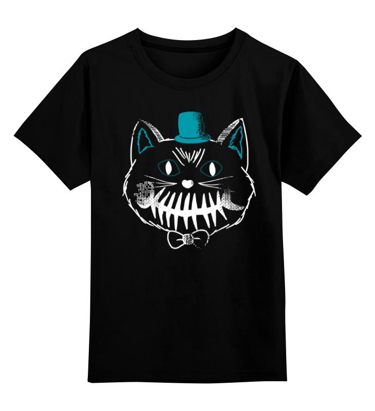 Детская футболка Printio Улыбчивый кот цв.черный р.104 0000000780871 по цене 990