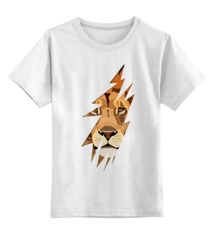 Детская футболка Printio Лев lion цв.белый р.104 0000000771724 по цене 790