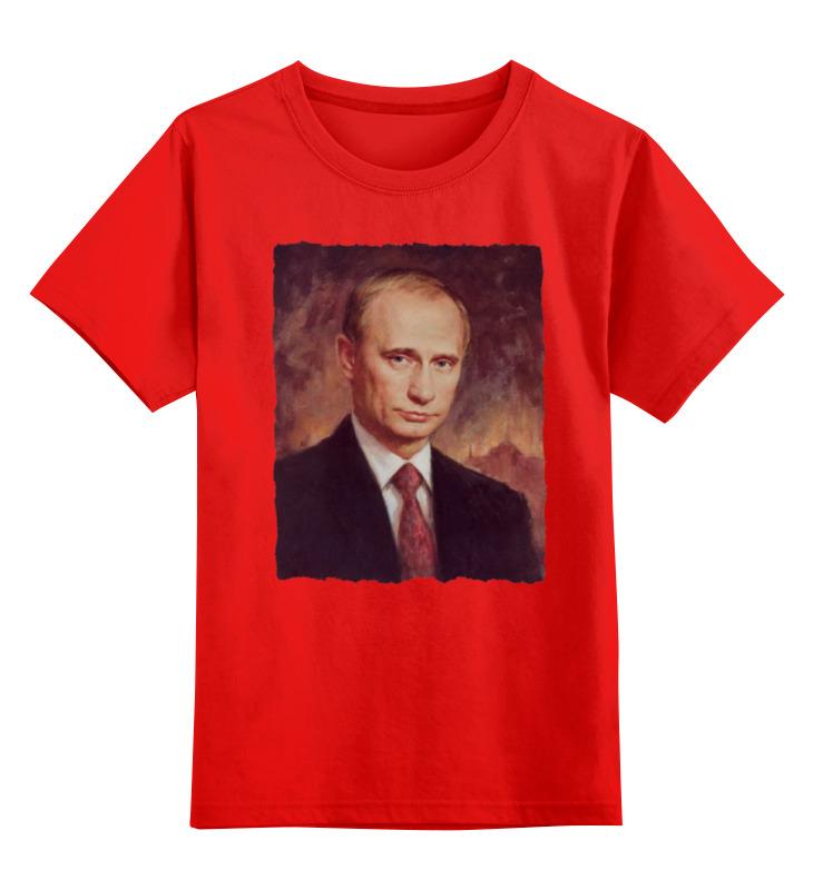 Купить 0000000771241, Детская футболка Printio Putin цв.красный р.104,
