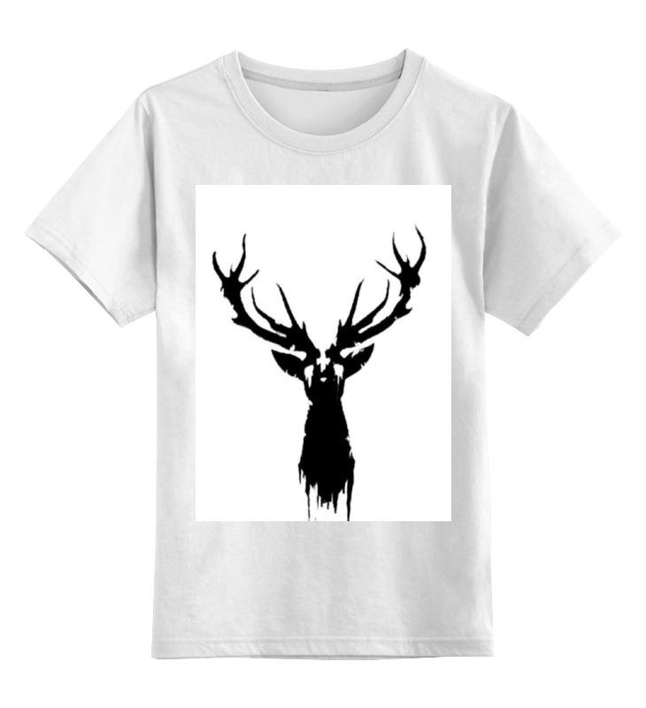 Детская футболка Printio Олень цв.белый р.116 0000000783329 по цене 758