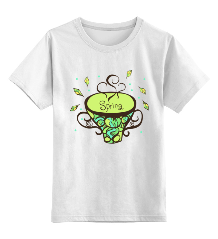 Детская футболка Printio Зеленый чай цв.белый р.116 0000000781683 по цене 669