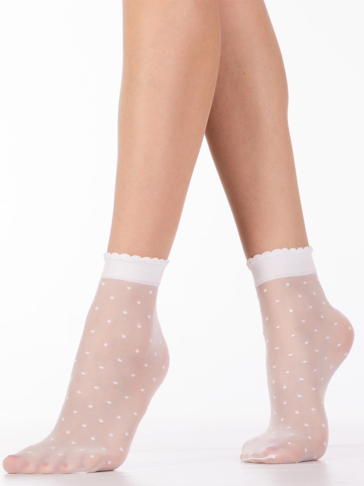 Носки женские MiNiMi POIS белые one size