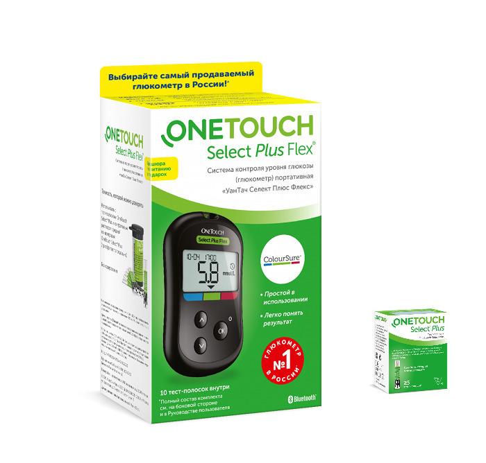 Купить Глюкометр OneTouch Select Plus Flex+25 тест-полосок