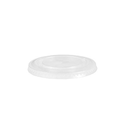 Крышка PAPSTAR плоская с отверстием для соломки