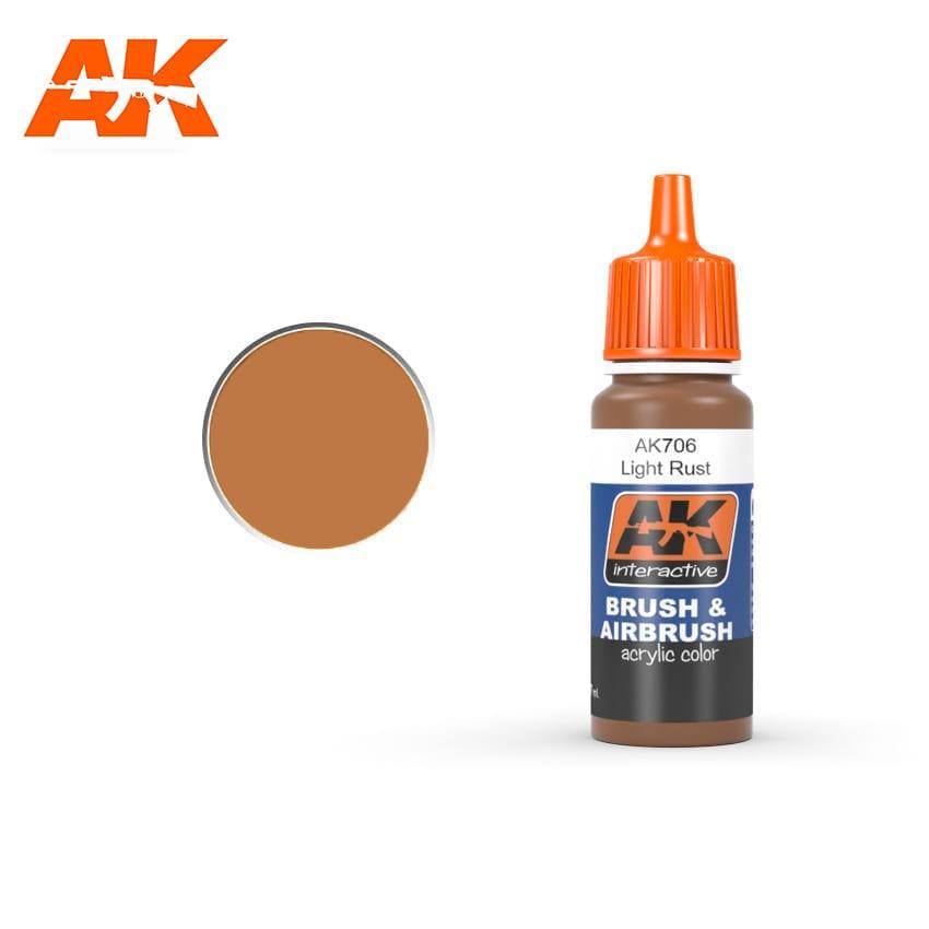 Купить Краска акриловая AK Interactive LIGHT RUST светлая ржавчина,