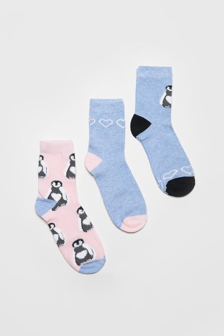 Набор носков женских Modis M202U00425S502P27 голубых 25-27