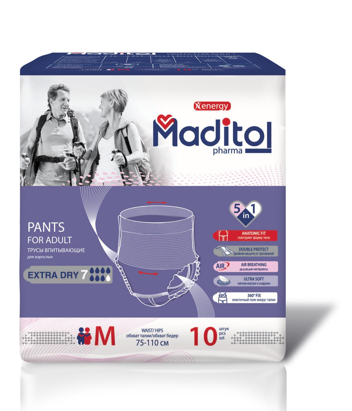 Трусы для взрослых Maditol Размер М обхват