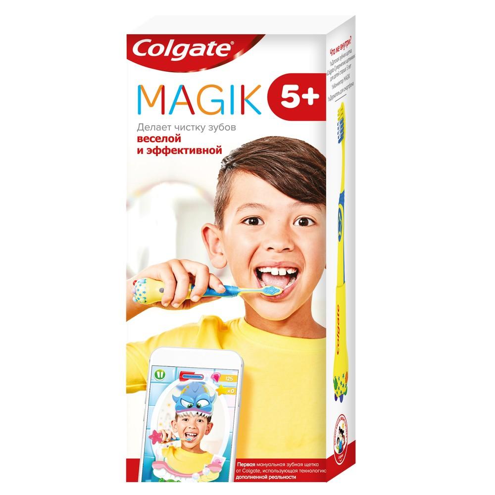Детская зубная щетка Colgate Magik с приложением