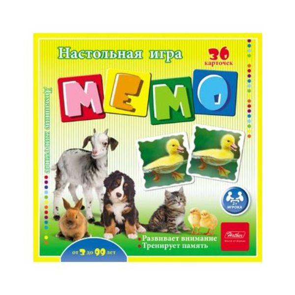 Игра настольная Hatber Мемо Домашние животные