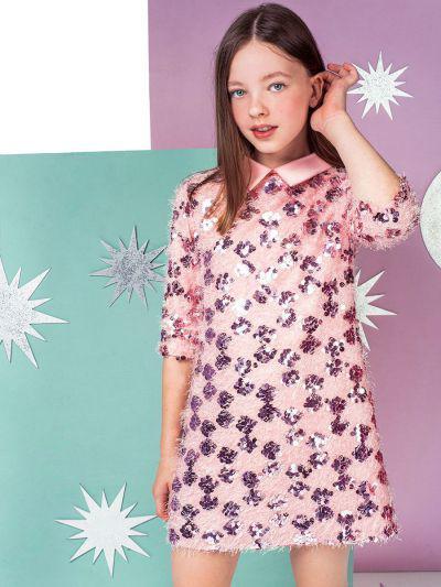 Купить 29526-1068-1, Платье Noble People цв. розовый р.152,