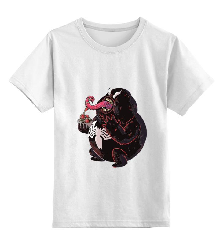 Детская футболка Printio Fat venom цв.белый р.116 0000000779873 по цене 790