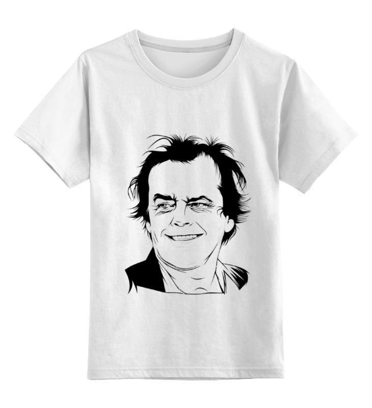 Купить 0000000774349, Детская футболка Printio Jack nicholson цв.белый р.116,