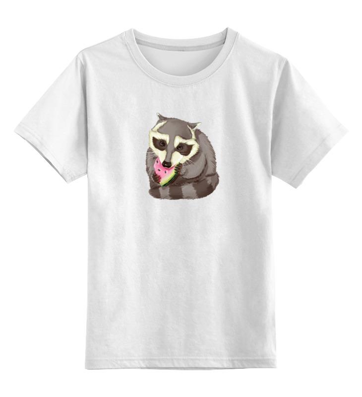 Детская футболка Printio Крошка енот цв.белый р.116 0000000774010 по цене 790