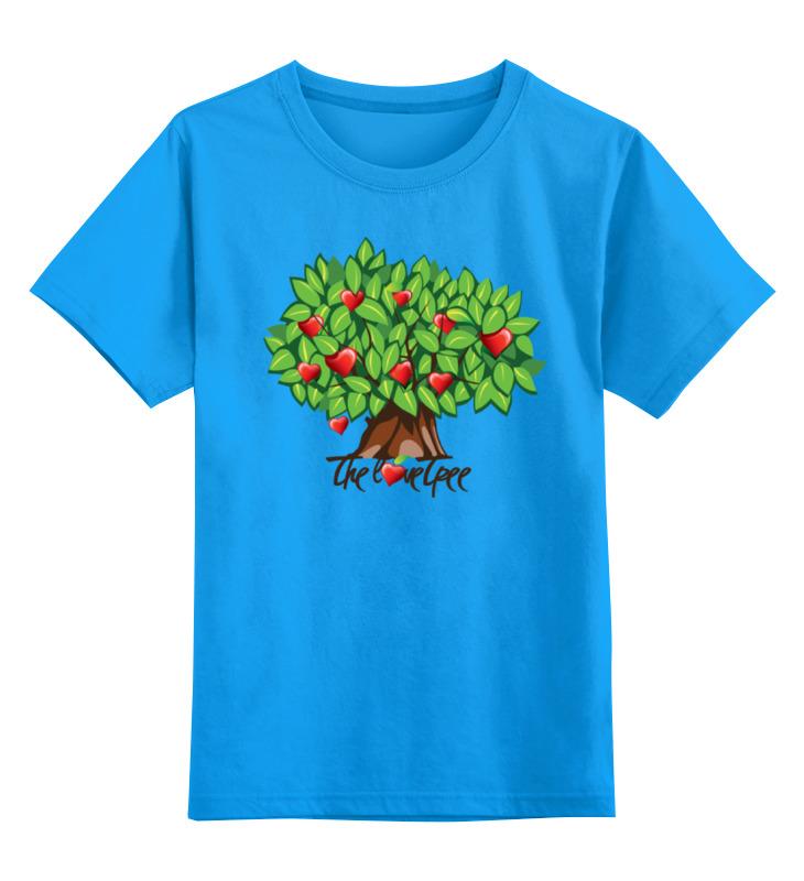 Купить 0000000770160, Детская футболка Printio Icalistini the love tree дерево любви цв.голубой р.116,