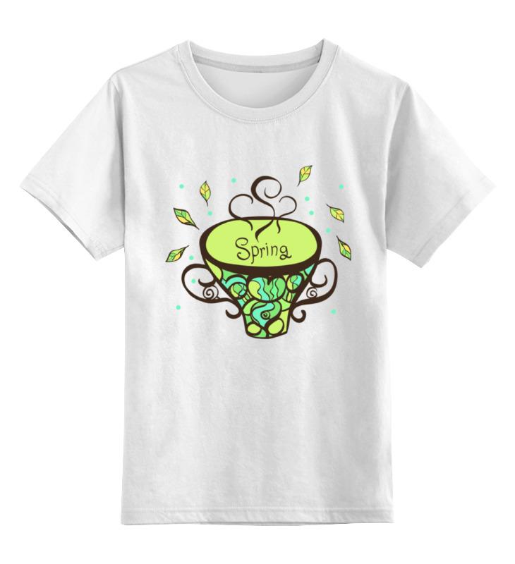 Детская футболка Printio Зеленый чай цв.белый р.128 0000000781683 по цене 669