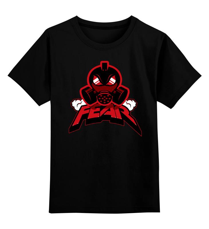 Купить 0000000779440, Детская футболка Printio Fear art цв.черный р.128,
