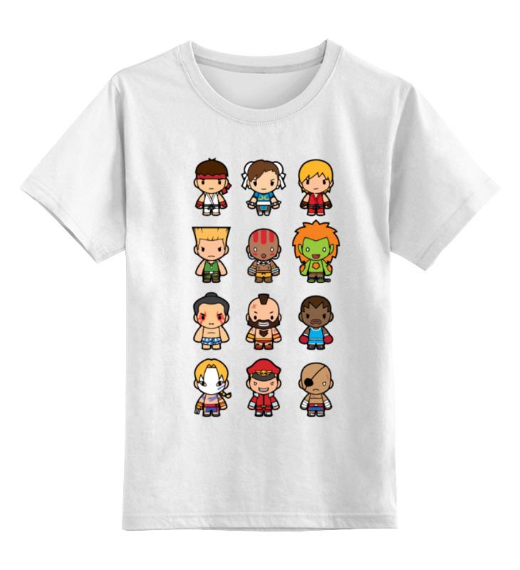 Детская футболка Printio Уличный боец street fighter цв.белый р.128 0000000773788 по цене 790