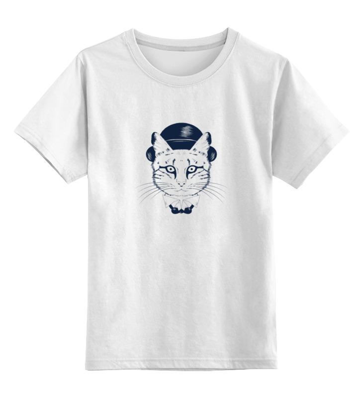Купить 0000000769924, Детская футболка Printio The cat in the hat цв.белый р.128,