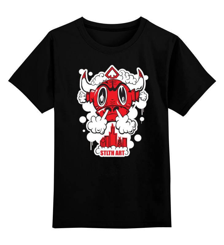 Купить 0000000769619, Детская футболка Printio Art swag цв.черный р.128,