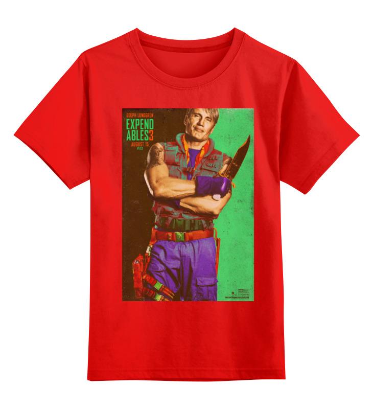 Купить 0000000768628, Детская футболка Printio Expendables iii lundgren цв.красный р.128,