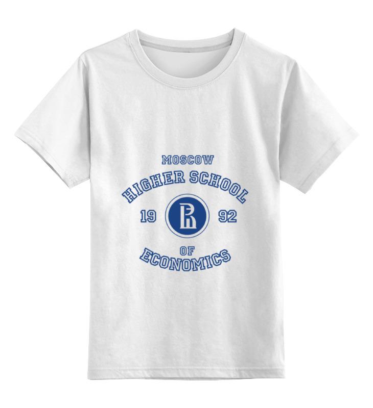 Купить 0000000784168, Детская футболка Printio Вшэ цв.белый р.140,