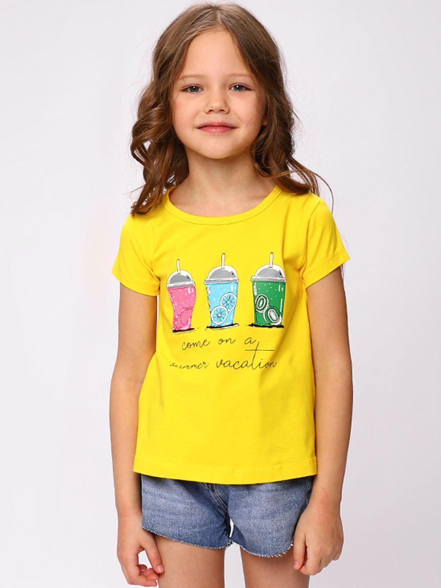 Купить ADG5435-34, Футболка детская Laddobbo цв.желтый,