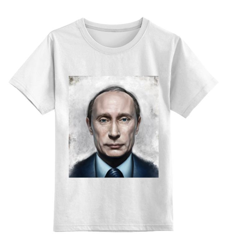 Купить 0000000781753, Детская футболка Printio Путин цв.белый р.140,