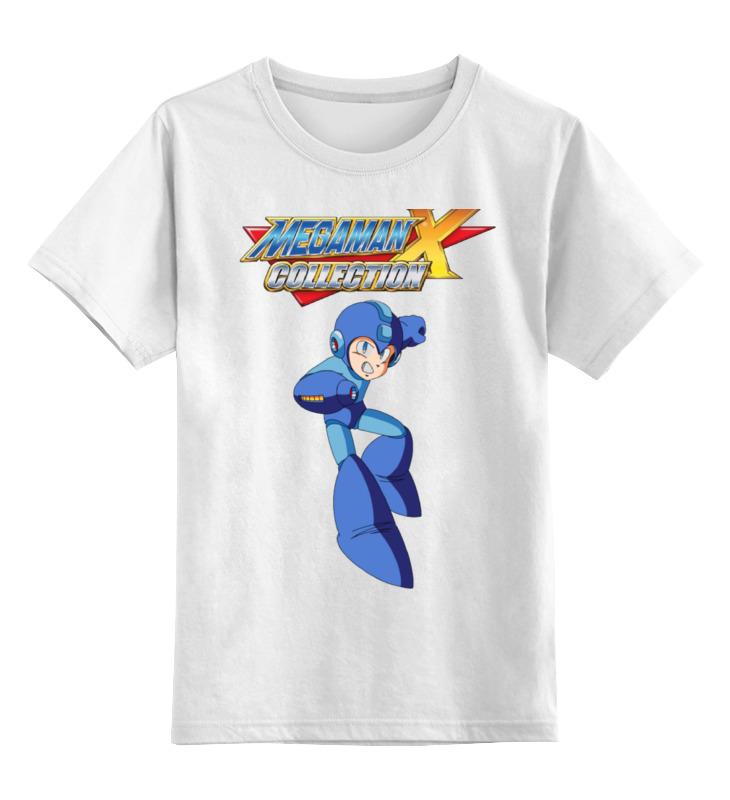 Купить 0000000781187, Детская футболка Printio Megaman x цв.белый р.140,