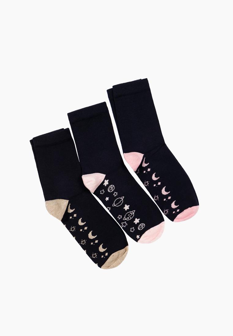 Набор носков женских Modis M202U00426B001L40 черных 23-25
