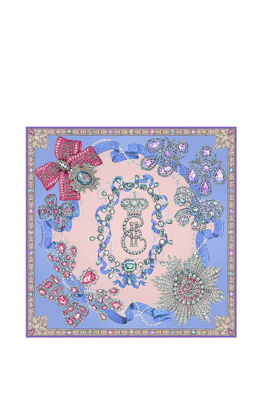 Платок женский РУССКИЕ В МОДЕ 0140 фиолетовый, 90х90 см