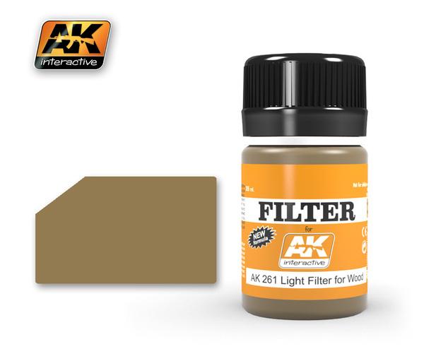 Купить Фильтр для нанесения эффектов AK Interactive LIGHT FILTER FOR WOOD,