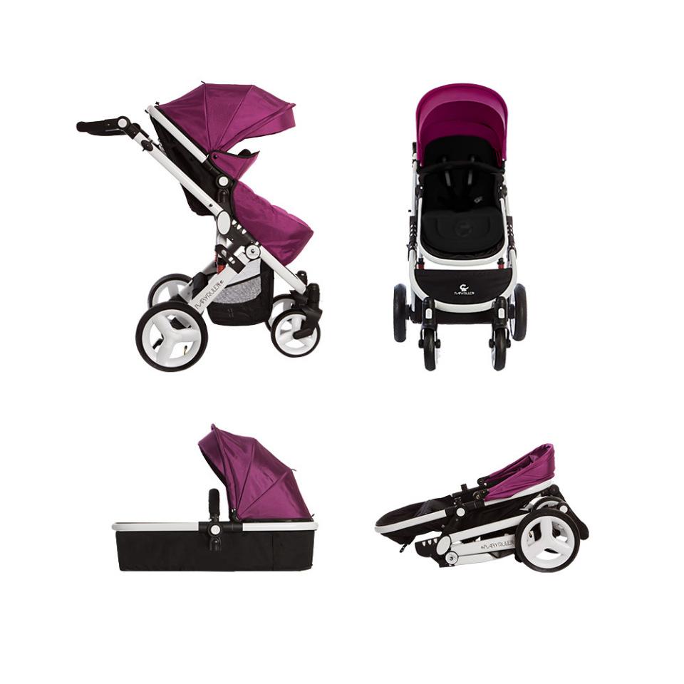 Коляска трансформер Babyruler ST166 violet