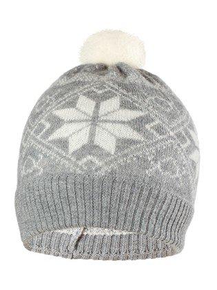 Купить Шапка детская Norveg цвет серый с белыми снежинками 7CWU-053 (L), Шапка для девочек