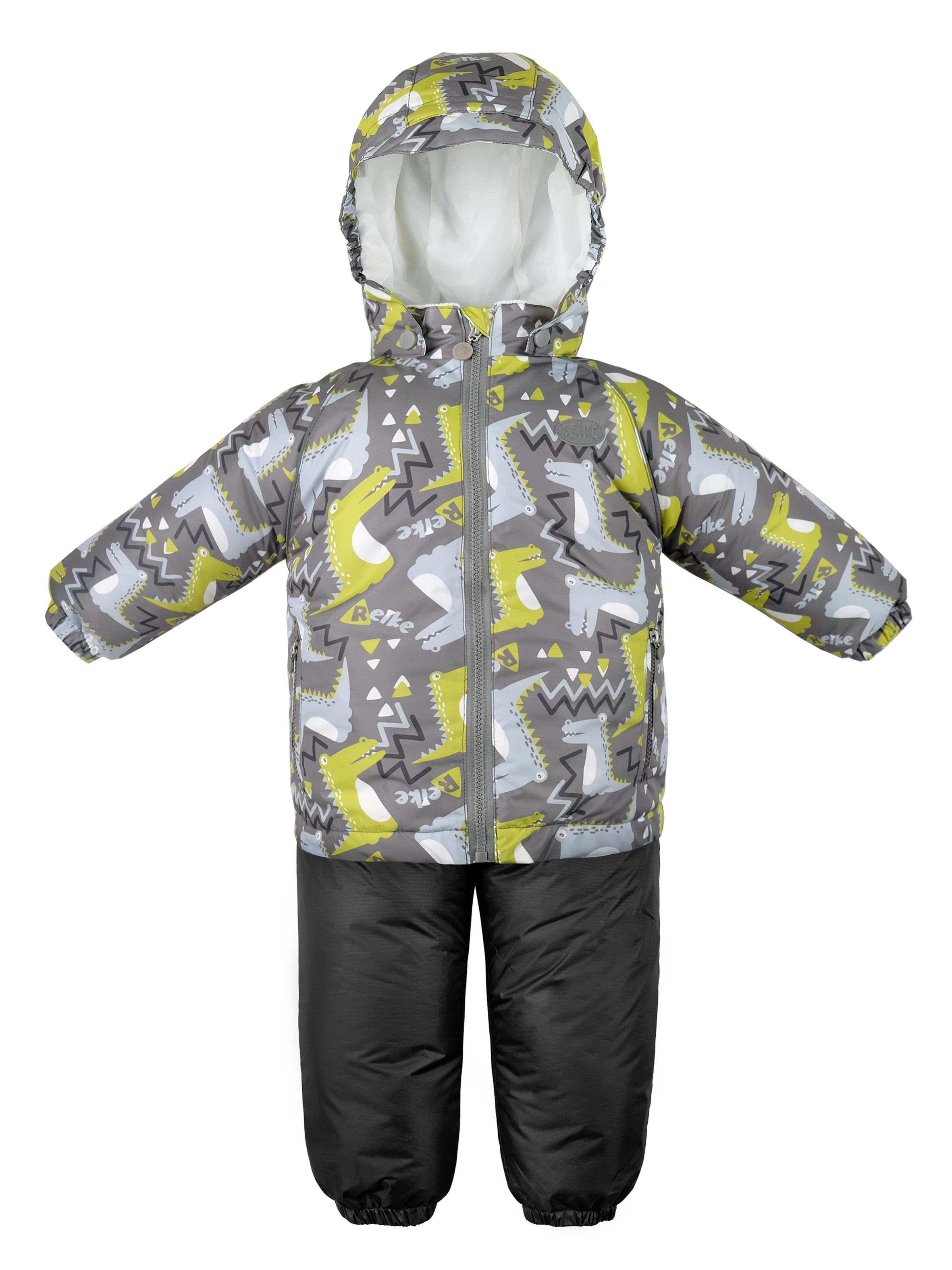 Купить Крокодильчики, Комплект детский Reike Crocodiles grey, размер 98, Комплекты верхней одежды для мальчиков